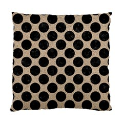 Circles2 Black Marble & Sand Standard Cushion Case (two Sides)