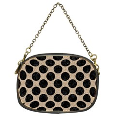 Circles2 Black Marble & Sand Chain Purses (two Sides)