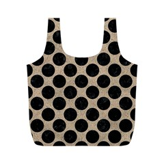 Circles2 Black Marble & Sand Full Print Recycle Bags (m)