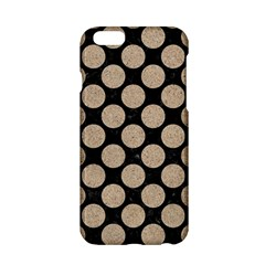 Circles2 Black Marble & Sand (r) Apple Iphone 6/6s Hardshell Case