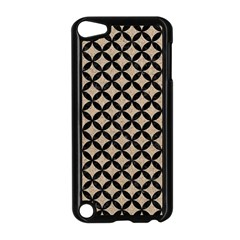 Circles3 Black Marble & Sand Apple Ipod Touch 5 Case (black)