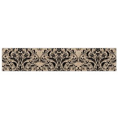 Damask1 Black Marble & Sand Small Velour Scarf