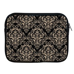 Damask1 Black Marble & Sand (r) Apple Ipad 2/3/4 Zipper Cases
