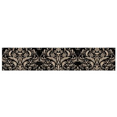Damask1 Black Marble & Sand (r) Small Velour Scarf