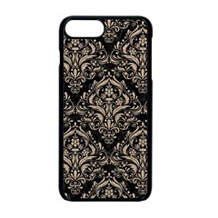 Damask1 Black Marble & Sand (r) Apple Iphone 7 Plus Seamless Case (black)