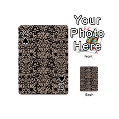 Damask2 Black Marble & Sand (r) Playing Cards 54 (mini)
