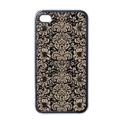 Damask2 Black Marble & Sand (r) Apple Iphone 4 Case (black)