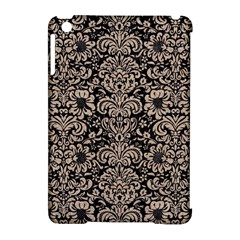 Damask2 Black Marble & Sand (r) Apple Ipad Mini Hardshell Case (compatible With Smart Cover)