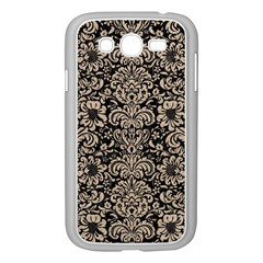 Damask2 Black Marble & Sand (r) Samsung Galaxy Grand Duos I9082 Case (white)