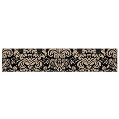 Damask2 Black Marble & Sand (r) Small Velour Scarf