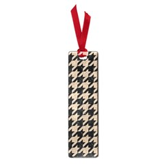 Houndstooth1 Black Marble & Sand Small Book Marks