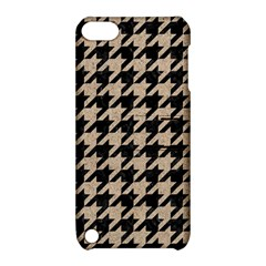 Houndstooth1 Black Marble & Sand Apple Ipod Touch 5 Hardshell Case With Stand