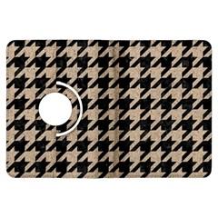 Houndstooth1 Black Marble & Sand Kindle Fire Hdx Flip 360 Case