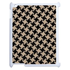 Houndstooth2 Black Marble & Sand Apple Ipad 2 Case (white)
