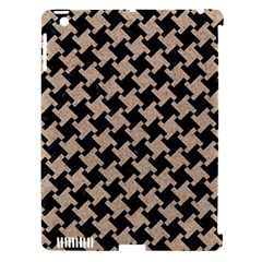 Houndstooth2 Black Marble & Sand Apple Ipad 3/4 Hardshell Case (compatible With Smart Cover)
