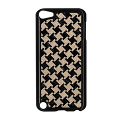 Houndstooth2 Black Marble & Sand Apple Ipod Touch 5 Case (black)