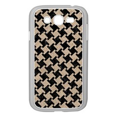 Houndstooth2 Black Marble & Sand Samsung Galaxy Grand Duos I9082 Case (white)