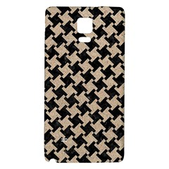 Houndstooth2 Black Marble & Sand Galaxy Note 4 Back Case