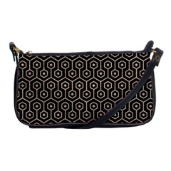 Hexagon1 Black Marble & Sand (r) Shoulder Clutch Bags