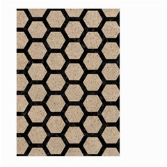 Hexagon2 Black Marble & Sand Large Garden Flag (two Sides)