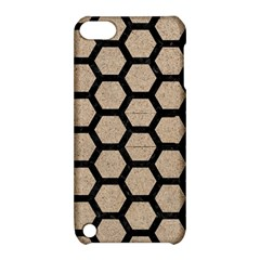 Hexagon2 Black Marble & Sand Apple Ipod Touch 5 Hardshell Case With Stand