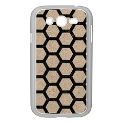 Hexagon2 Black Marble & Sand Samsung Galaxy Grand Duos I9082 Case (white)
