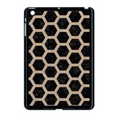 Hexagon2 Black Marble & Sand (r) Apple Ipad Mini Case (black)