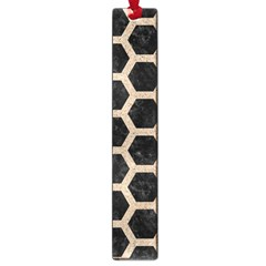 Hexagon2 Black Marble & Sand (r) Large Book Marks
