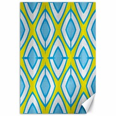 Blue Rhombus Pattern                                Canvas 20  X 30