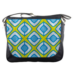 Blue Rhombus Pattern                                Messenger Bag