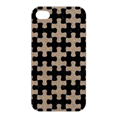 Puzzle1 Black Marble & Sand Apple Iphone 4/4s Premium Hardshell Case