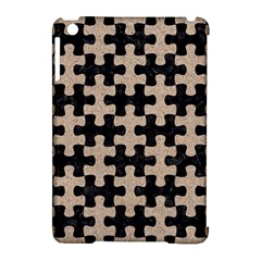 Puzzle1 Black Marble & Sand Apple Ipad Mini Hardshell Case (compatible With Smart Cover)