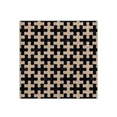 Puzzle1 Black Marble & Sand Satin Bandana Scarf