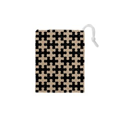 Puzzle1 Black Marble & Sand Drawstring Pouches (xs)