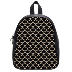Scales1 Black Marble & Sand (r) School Bag (small)