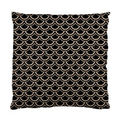 Scales2 Black Marble & Sand (r) Standard Cushion Case (two Sides)