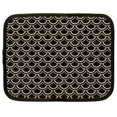 Scales2 Black Marble & Sand (r) Netbook Case (xl)