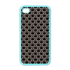 Scales2 Black Marble & Sand (r) Apple Iphone 4 Case (color)