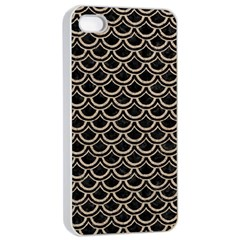 Scales2 Black Marble & Sand (r) Apple Iphone 4/4s Seamless Case (white)
