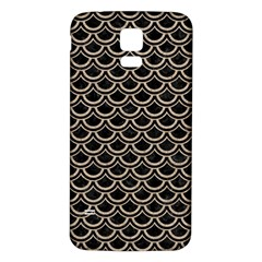 Scales2 Black Marble & Sand (r) Samsung Galaxy S5 Back Case (white)