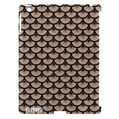 Scales3 Black Marble & Sand Apple Ipad 3/4 Hardshell Case (compatible With Smart Cover)