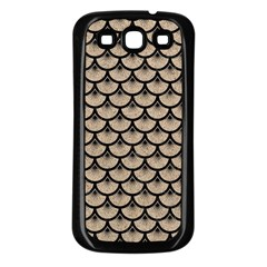 Scales3 Black Marble & Sand Samsung Galaxy S3 Back Case (black)