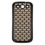 SCALES3 BLACK MARBLE & SAND Samsung Galaxy S3 Back Case (Black) Front