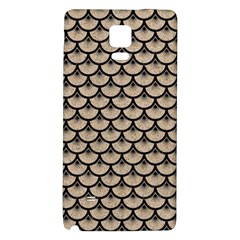 Scales3 Black Marble & Sand Galaxy Note 4 Back Case