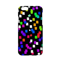 Colorful Rectangles On A Black Background                           Apple Iphone 6/6s Black Enamel Case