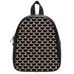 Scales3 Black Marble & Sand (r) School Bag (small)
