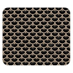 Scales3 Black Marble & Sand (r) Double Sided Flano Blanket (small)