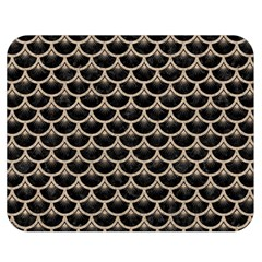 Scales3 Black Marble & Sand (r) Double Sided Flano Blanket (medium)