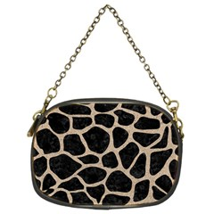 Skin1 Black Marble & Sand Chain Purses (two Sides)