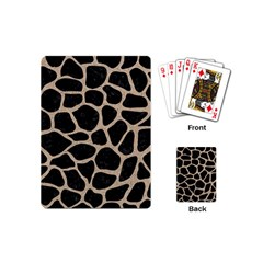Skin1 Black Marble & Sand Playing Cards (mini)